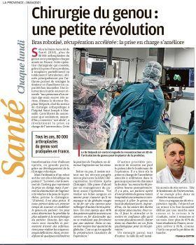 LA PRESSE PARLE DE NOUS : La chirurgie robotique orthopédique à Saint Joseph !