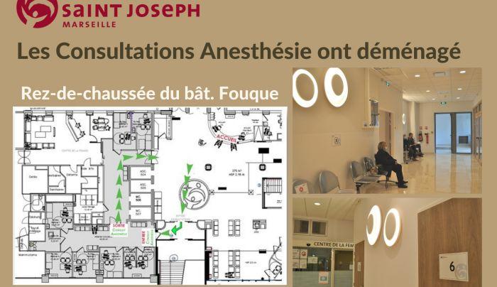 Les Consultations Anesthésie ont déménagé