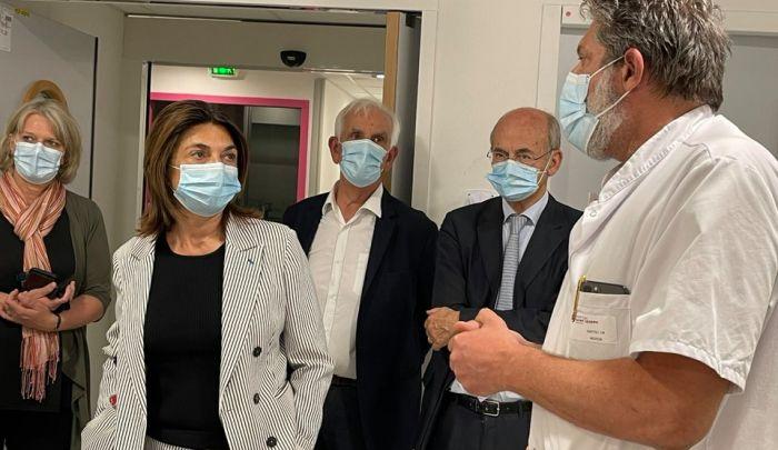 Visite de Martine Vassal aux Urgences Pédiatriques