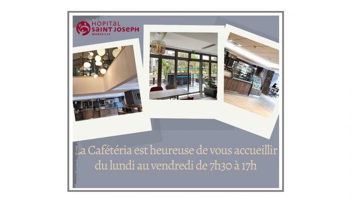 La Cafétéria Visiteurs est ouverte
